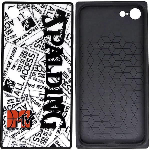 スポルディング バスケ iPhoneケース 6 7 8用 スクエアガラス MTVイベントパス 11-010EP 軽量アイフォンケース SPALDING