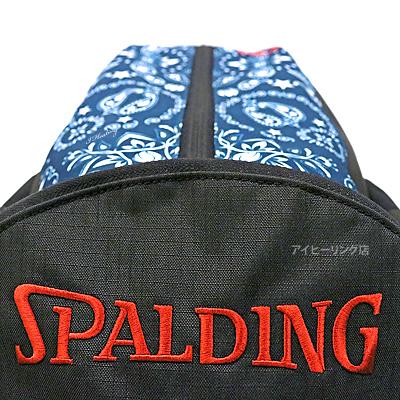 スポルディング ケイジャー ペイズリー ネイビー バスケットボール収納バッグ SPALDING40-007PL