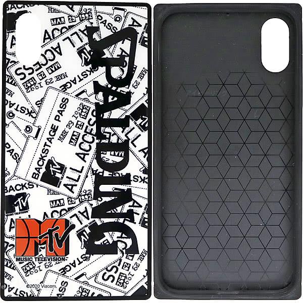 スポルディング バスケ iPhoneケース XS X用 スクエアガラス MTVイベントパス 11-011EP 軽量アイフォンケース SPALDING