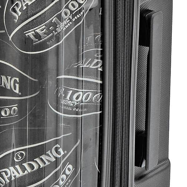 SPALDING バスケットボール スーツケース ダブルホイールキャリー 64L ブラック 8輪キャリーケース スポルディング SP-0803-60