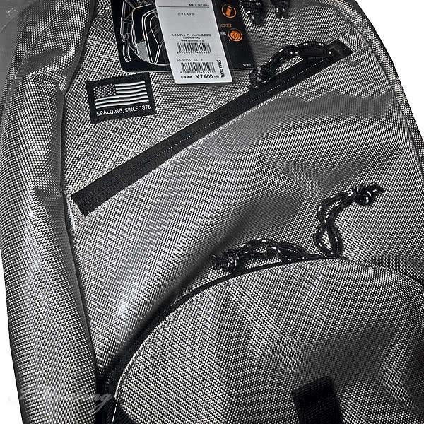 バスケ バッグ ハーフデイ シールド シルバー 50-003SS 高耐久素材使用 バスケットボール リュック メンズ レディース カジュアル バックパック 35L スポルディング HALF DAY