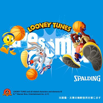 スポルディング ボールバッグ タズ ルーニーテューンズ ブラックブルー バスケットボール収納 SPALDING49-001TAZ