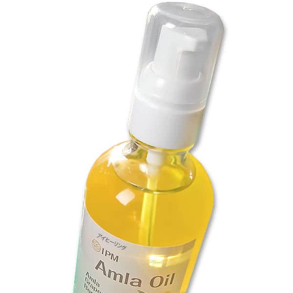 IPMアムラオイル 110ml 髪用ヘアオイル 植物オイル3種類配合 ビタミンC ポリフェノール 低温圧搾法 癒しの爽やかな香り 日本製