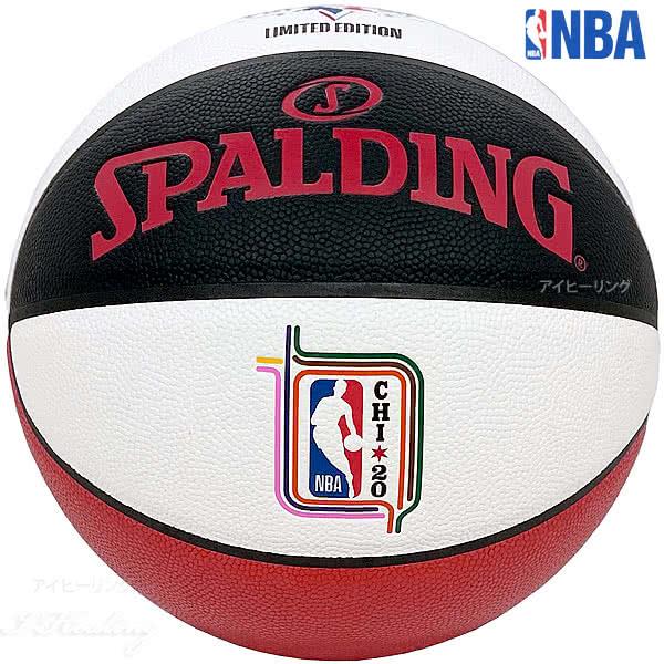 2020 NBA オールスター マネーボール レプリカ バスケットボール7号 合成皮革 SPALDING 76-674Z