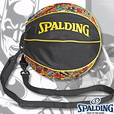 スポルディング ボールバッグ バットマン マッシュ イエロー バスケットボール収納 SPALDING49-001BMM