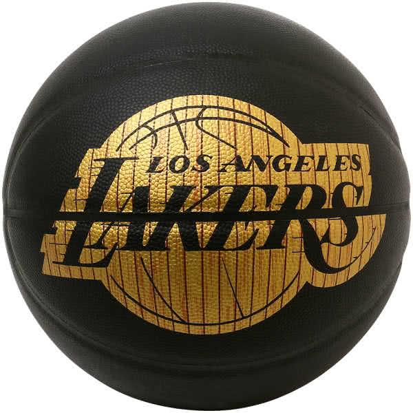 スポルディング バスケットボール 7号 ハードウッドシリーズ ロサンゼルス レイカーズ ブラック バスケ 76-606Z 合成皮革 SPALDING