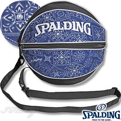 スポルディング ボールバッグ ペイズリー ネイビー バスケットボール収納 SPALDING49-001PL