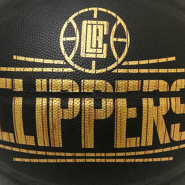 スポルディング バスケットボール 7号 ハードウッドシリーズ ロサンゼルス クリッパーズ ブラック バスケ 76-653Z 合成皮革 SPALDING