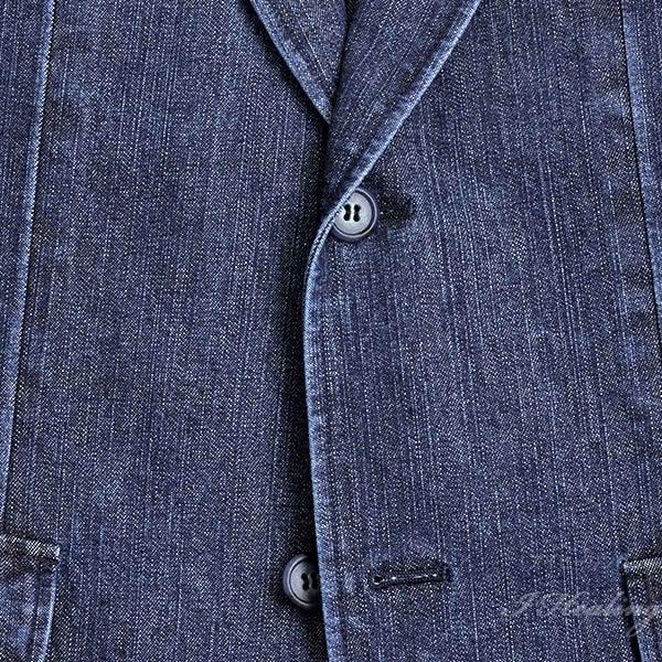 逸品倶楽部 デニムジャケット メンズ IM-547M 普通サイズ 春 秋 インディゴブルー色 綿 井原デニム 上着 日本製
