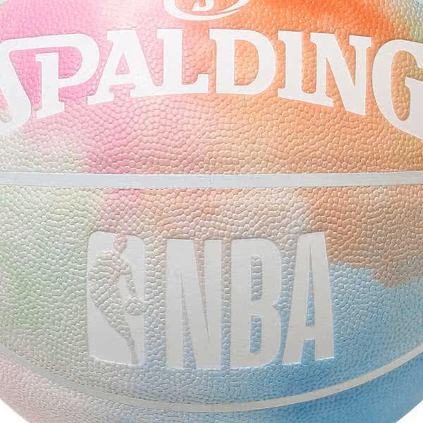 スポルディング バスケットボール 7号 タイダイ レインボー 癒し絞り染めデザイン バスケ 76-722J 合成皮革 SPALDING