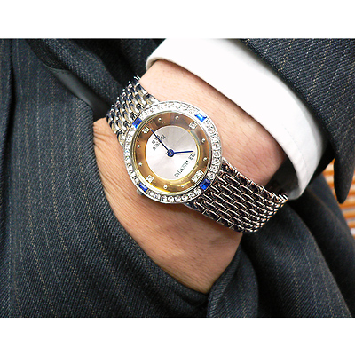 ペレバレンチノ 天然ダイヤモンド宝飾腕時計 メンズ
