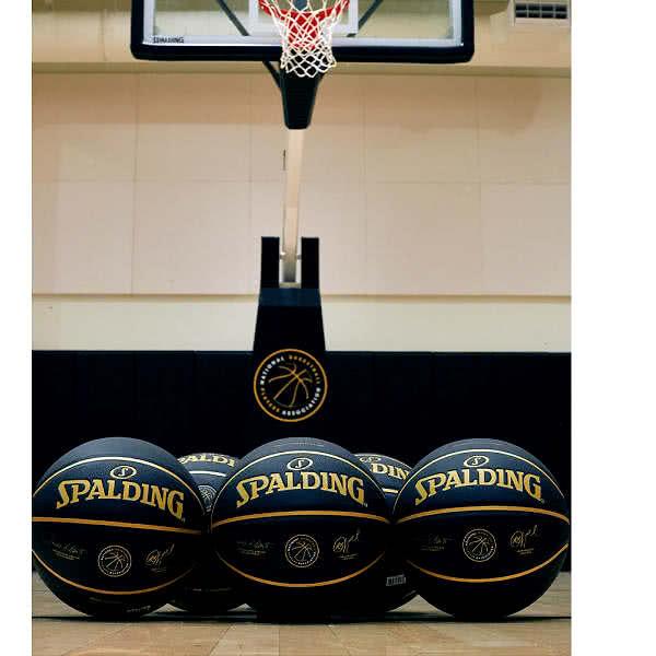 NBPA バスケットボール 7号 プレイヤーズボール ブラックゴールド バスケ 703502J 合成皮革 SPALDING