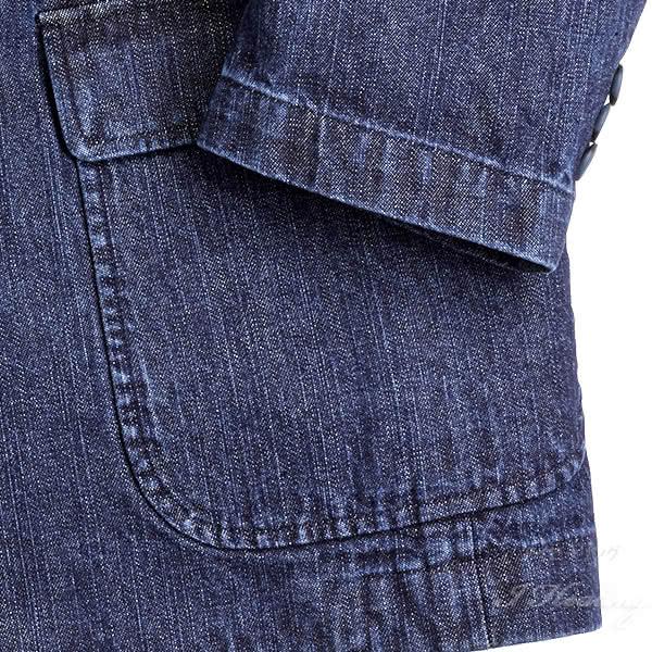 逸品倶楽部 デニムジャケット メンズ IM-547LL 大きいサイズ 春 秋 インディゴブルー色 綿 井原デニム 上着 日本製