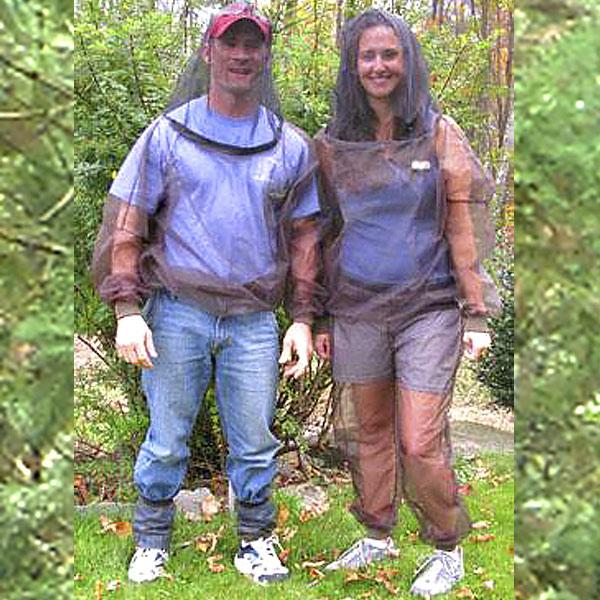 虫除けスーツ 上下セット 米国バグバフラー社 男女兼用 フリーサイズ 洗濯可能