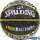 スポルディング バスケットボール7号 トゥルービリーバーズ ブラック ラバー SPALDING83-658J