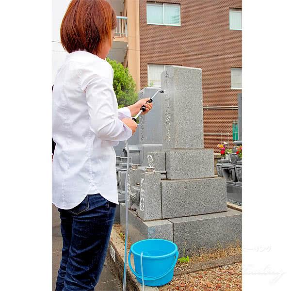 お墓の掃除 水でキレイキレイ PUREジェット噴射器 小型軽量 墓石洗浄器 手動式 ミスト 直射 2WAY 1口噴射 C-00016 日本製