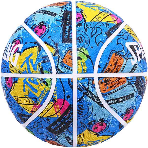 スポルディング バスケットボール 7号 MTVギター ブルー バスケ 84-064J ゴム 外用ラバー SPALDING