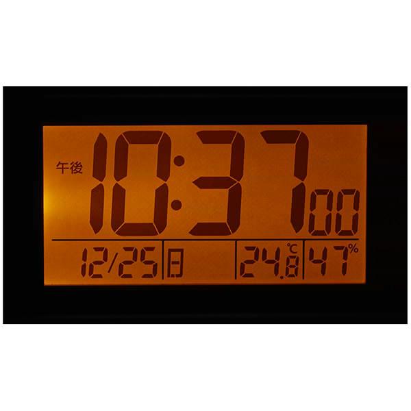 スヌーピーR187 デジタル電波めざまし時計 ホワイト 8RZ187-M03 デジタル温度計 湿度計付 リズム時計 Rhythm Watch