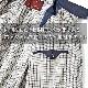 逸品倶楽部 スイングトップジャンパー メンズ IM-222M 普通サイズ 春 秋 冬 ネイビーブルー 綿 上着 日本製