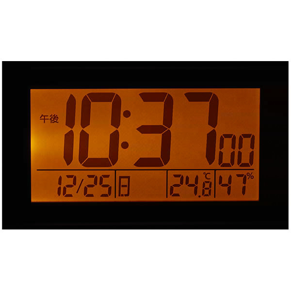 スヌーピーR187 デジタル電波めざまし時計 薄茶木目仕上 8RZ187-M06 デジタル温度計 湿度計付 リズム時計 Rhythm Watch