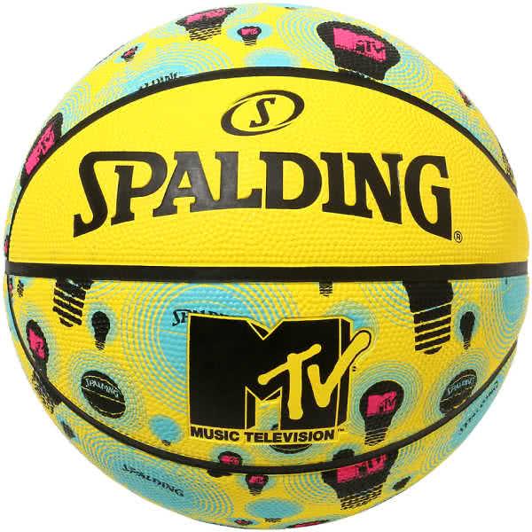 スポルディング バスケットボール 7号 MTVバルブ イエロー バスケ 84-198J ゴム 外用ラバー SPALDING