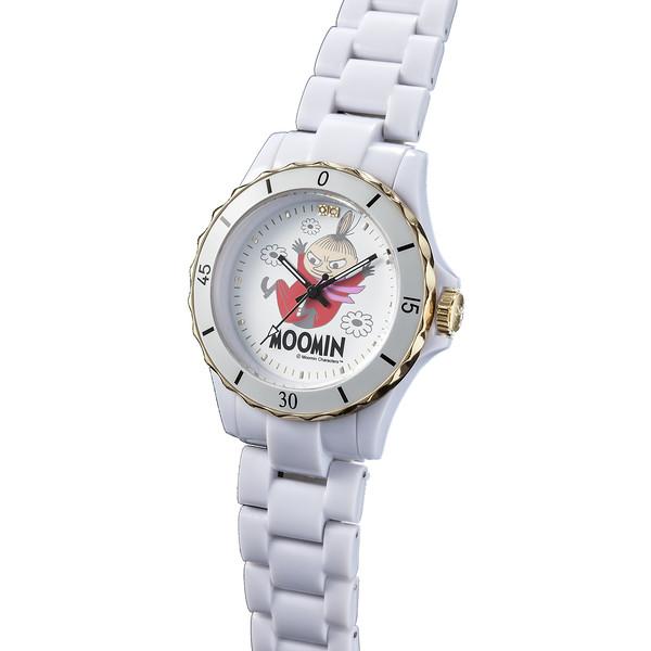 70周年記念ムーミン腕時計 リトルミイ ハイブリッド セラミックウォッチ ホワイト