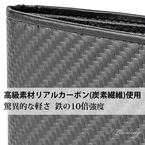 FRUH二つ折り財布 フリュー 高耐久リアルカーボン スマートウォレット ブラック 黒 薄いメンズ財布 GL033 BKBK 日本製