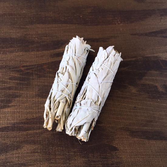 ホワイトセージ スマッジバンドル 葉巻型 2本入り