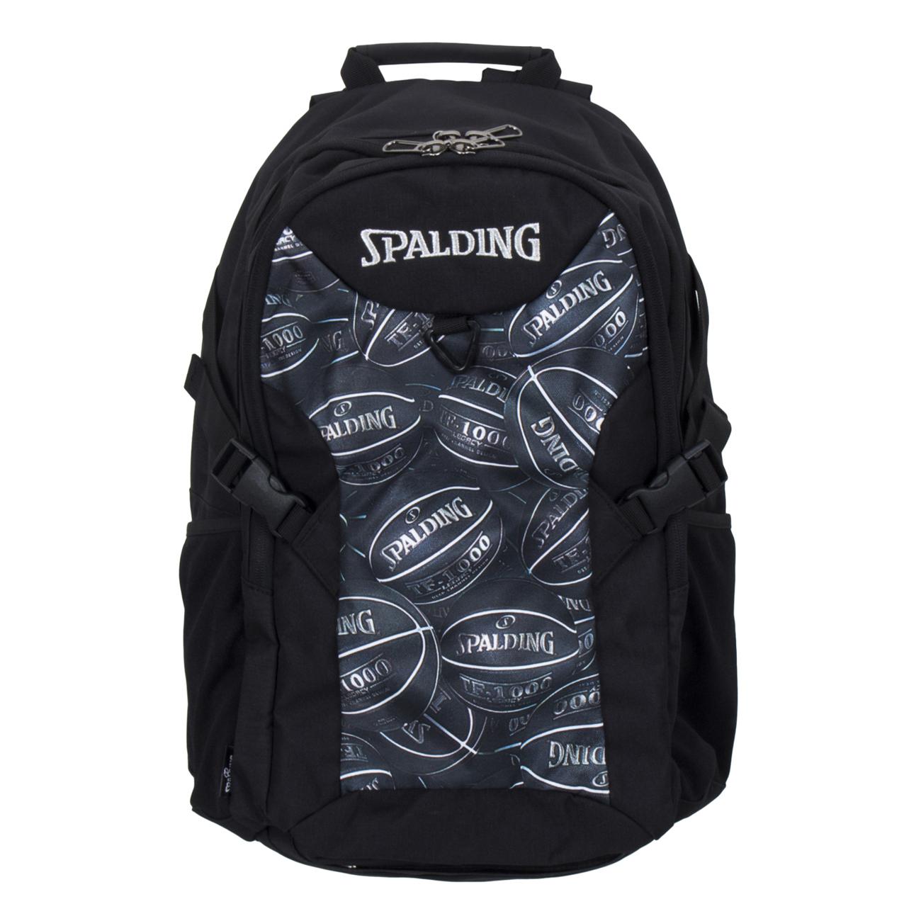 スポルディング フォスター ボールプリント ブラック バスケットボール リュック バスケ収納バッグ SPALDING40-006BKB