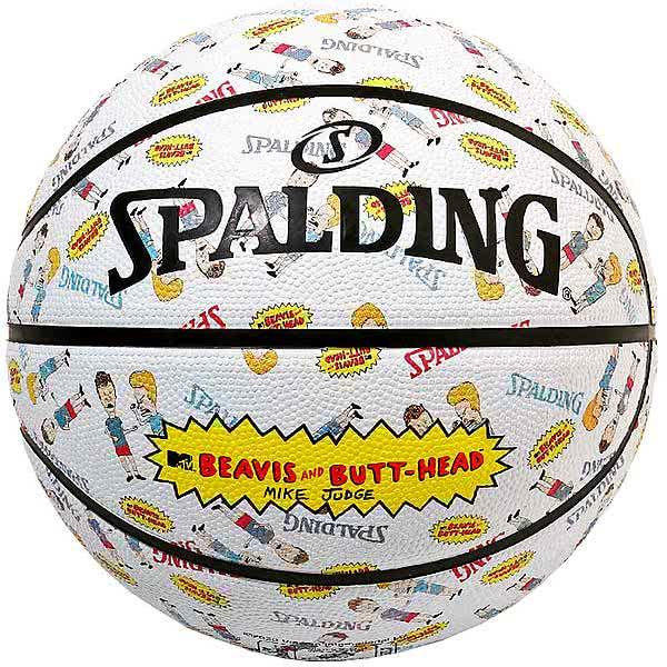 スポルディング バスケットボール 7号 ビーバス アンド バットヘッド MTV ホワイト バスケ 84-068J ゴム 外用ラバー SPALDING