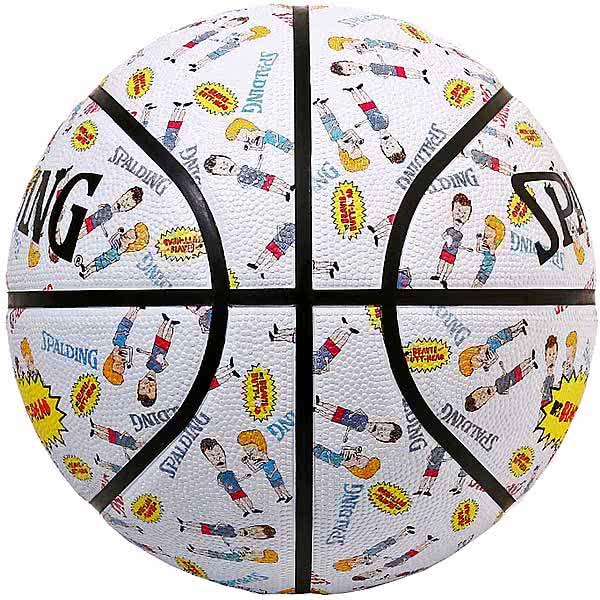スポルディング ミニバス バスケットボール 5号 ビーバス アンド バットヘッド MTV ホワイト バスケ 84-069J 小学校 子供用 ゴム 外用ラバー SPALDING