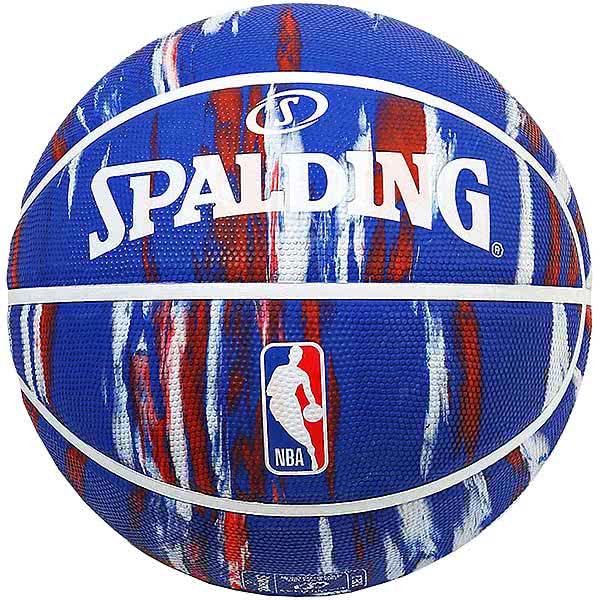 スポルディング バスケットボール 7号 NBAロゴ マーブル ブルー バスケ 84-096J ゴム 外用ラバー SPALDING