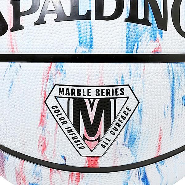 スポルディング 女性用 バスケットボール 6号 マーブル トリコロール バスケ 84-408Z ゴム 外用ラバー SPALDING 21AW2