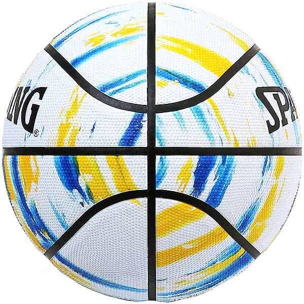 スポルディング バスケットボール 7号 NBAゴールデンステート ウォリアーズ マーブル ホワイト バスケ 84-100J ゴム 外用ラバー SPALDING