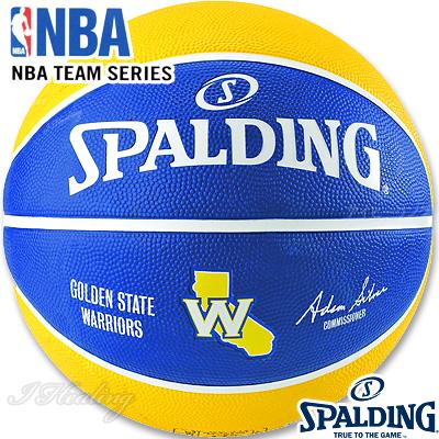 スポルディング バスケットボール7号 2017NBAゴールデンステイト ウォリアーズ ラバー SPALDING83-515Z