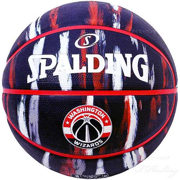 スポルディング バスケットボール 7号 NBAワシントン ウィザーズ マーブル ネイビー バスケ 84-154J ゴム 外用ラバー SPALDING