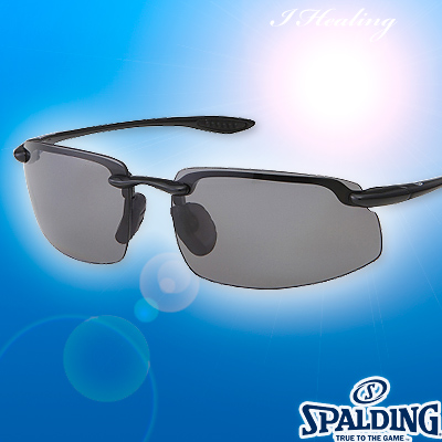 スポルディング サングラス ポリカーボネート偏光レンズ ブラックBK 軽量モデル SPALDING SPS17201W 日本製