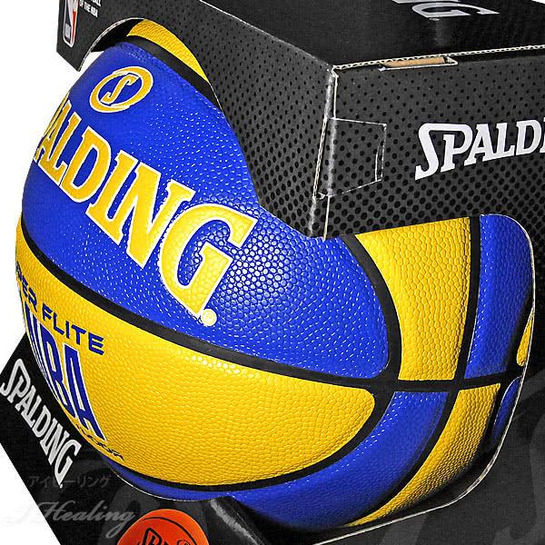 SPALDING SUPER FLITE バスケットボール7号 スーパーフライト ブルー イエロー 合成皮革 NBAロゴ スポルディング76-350Z