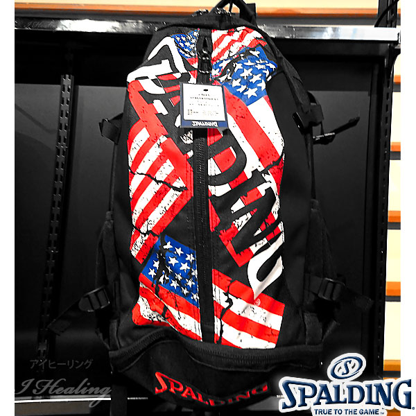 SPALDING ケイジャー スターズ アンド ストライプス バスケットボール バッグ バックパック リュック スポルディング CAGER 40-007SS
