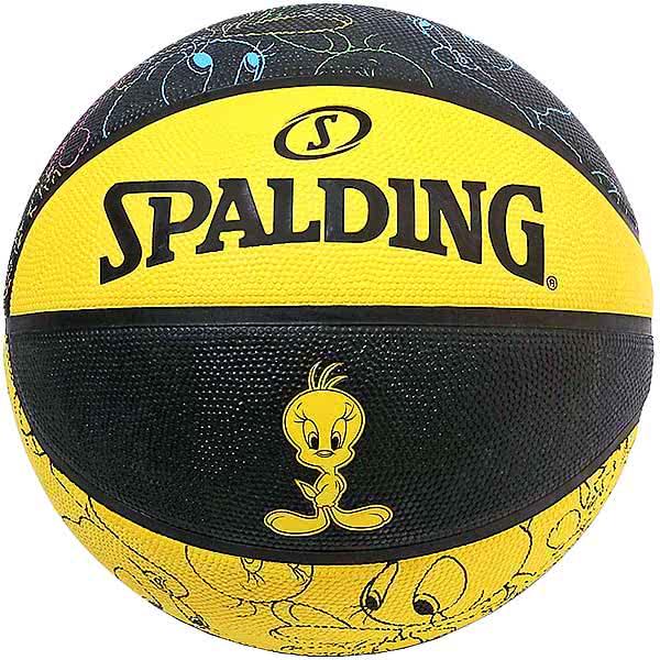 スポルディング ミニバス バスケットボール 5号 トゥイーティー イエローブラック バスケ 84-073J 小学校 子供用 ゴム 外用ラバー SPALDING