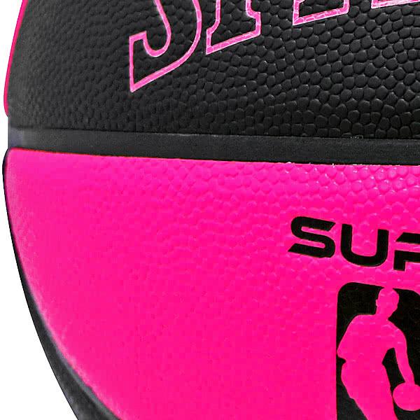 SPALDING SUPER FLITE 女性用バスケットボール6号 スーパーフライト ブラック ピンク 合成皮革 NBAロゴ スポルディング76-511J