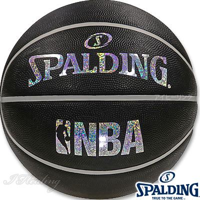 スポルディング バスケットボール7号 キラキラ ホログラム ブラックシルバー ラバー SPALDING83-660J