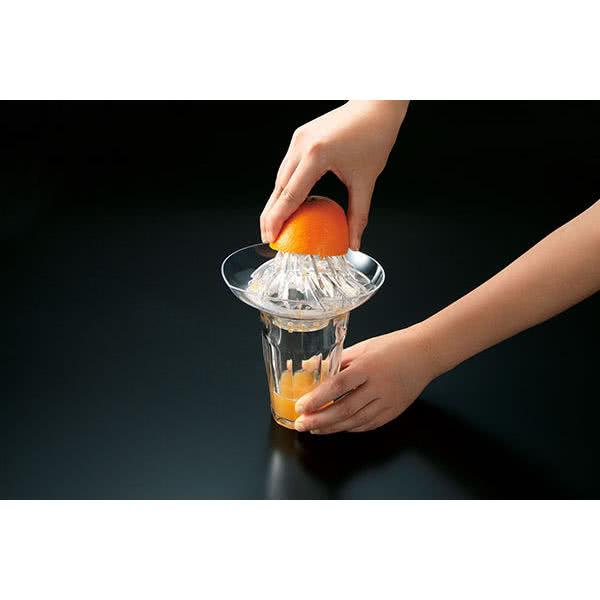 グラスにダイレクト トルネードジューサー グラスに乗せたまま搾れるジューサー