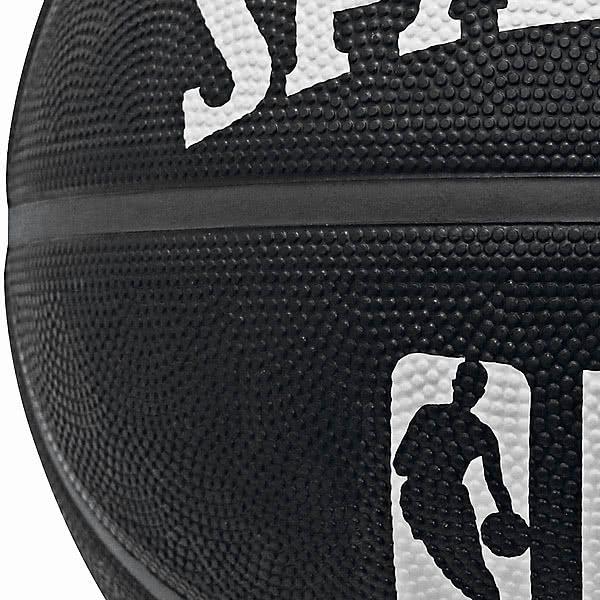 SPALDING ミニバス バスケットボール5号 トワイライト ブラック ホワイト 小学校 子供用 ラバー NBAロゴ スポルディング71-183J