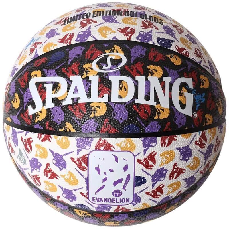 スポルディング X ラヂオエヴァ モノグラム バスケットボール7号 合成皮革 SPALDING 76-777J