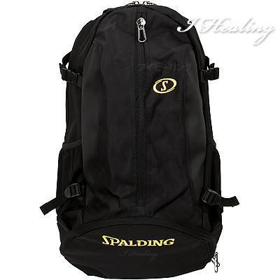 バスケットボール収納バッグ クラッシー ケイジャー ブラック 光沢ポリエステル スポルディング BLACK SPALDING41-009BK