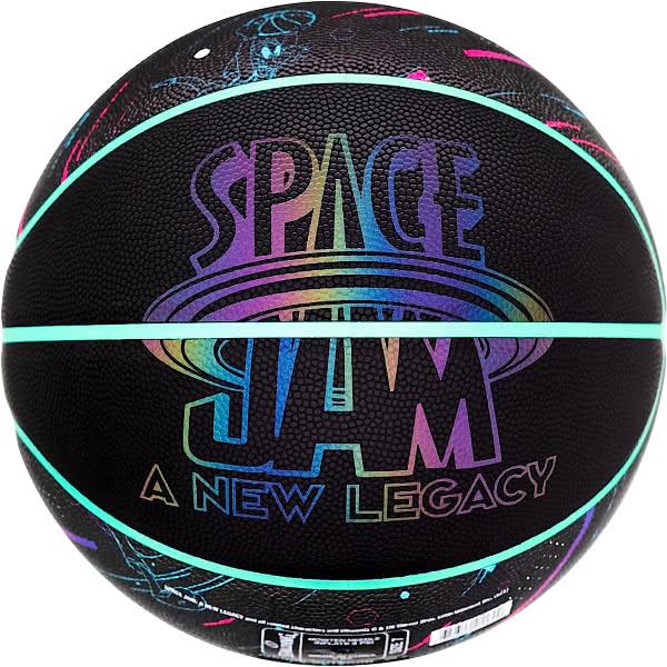 スポルディング バスケットボール 7号 スペースジャム ア ニュー レガシー ブラック リフレクターロゴ バスケ 77-121Z 合成皮革 SPALDING 21AW2