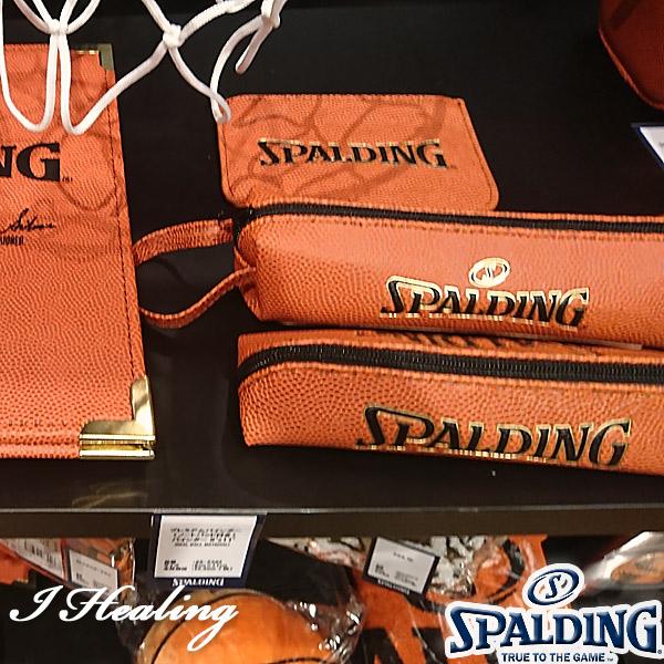 SPALDING バスケットボール素材 ペンケースL スポルディング68-529Z
