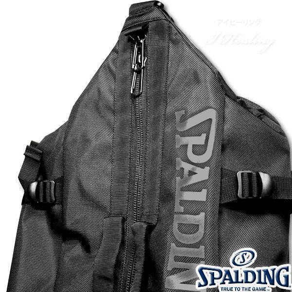 多機能バスケットボール バックパック SPALDING 大容量 ベクター ブラック バッグ リュック メンズ レディース スポルディング 41-007BK
