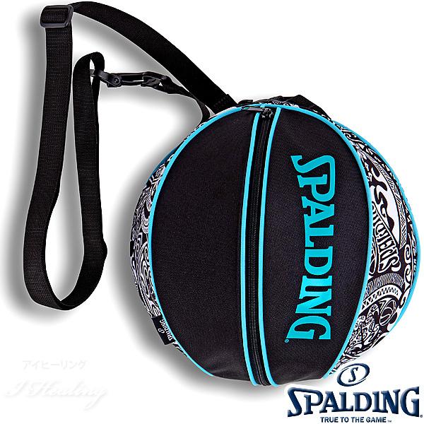 SPALDING バスケットボール ボールバッグ ポリネシアン ブラック POLYNESIAN BLACK スポルディング 49-001PB